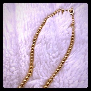 Ralph Lauren Gold Tone Toggle Bead Necklace